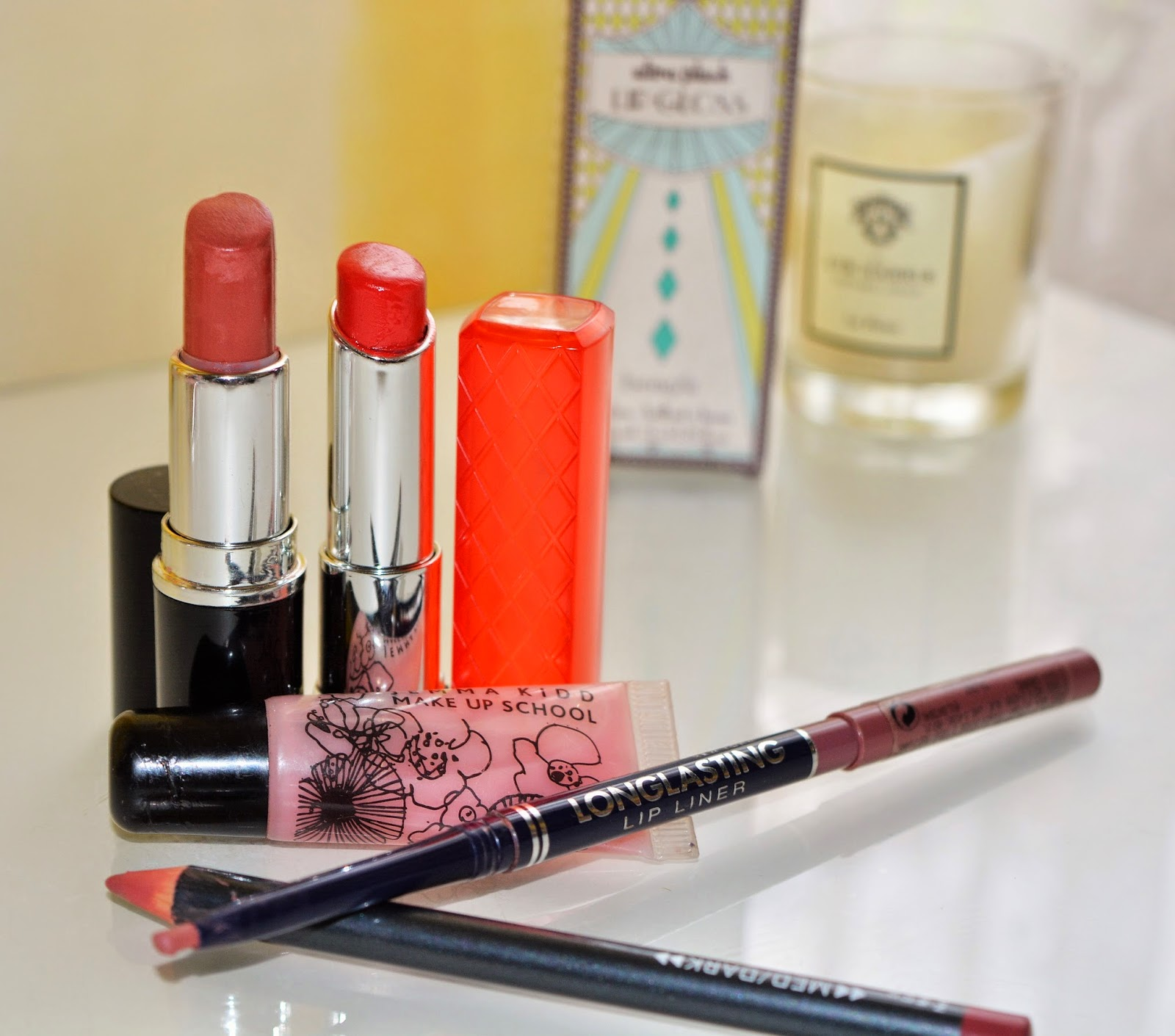 Lip products included in the Project use up- Thoughts of a bumble mind.