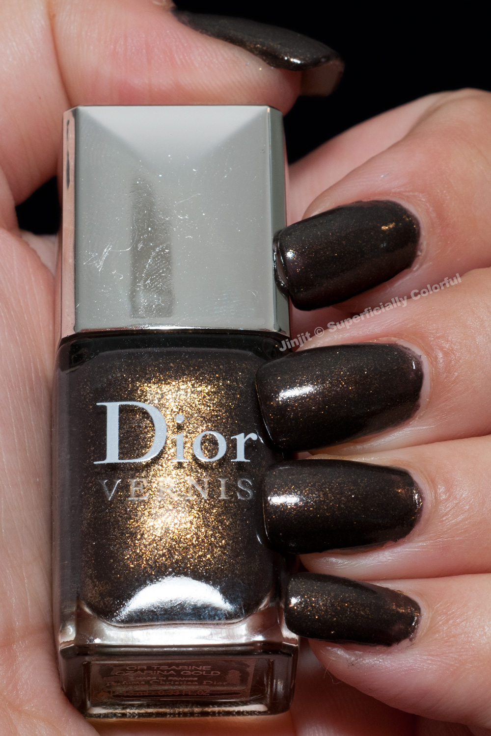 Dior Czarina Gold Or Tsarine Black and Gold Manicure