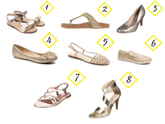 zapatos dorados online