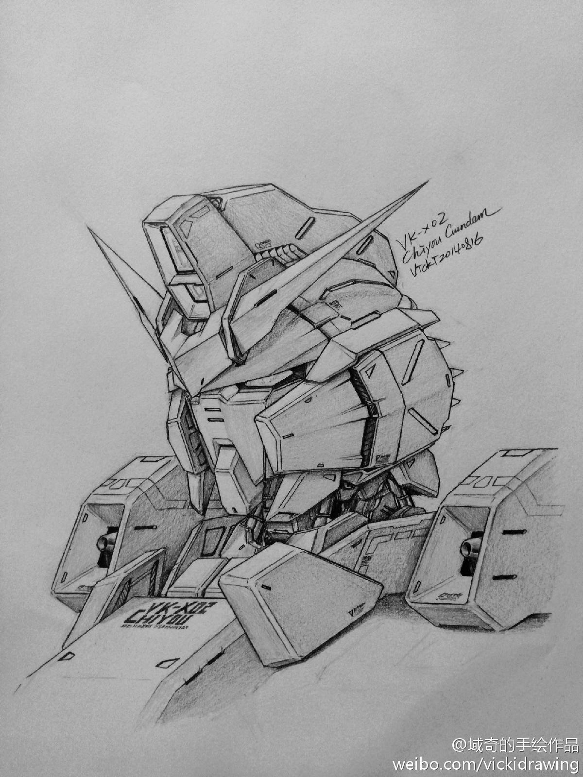 how to draw gundam head
