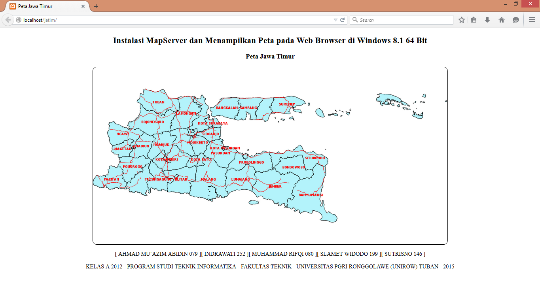 Peta Jawa Timur Memanfaatkan Aplikasi MapServer - Sistem Informasi Geografis