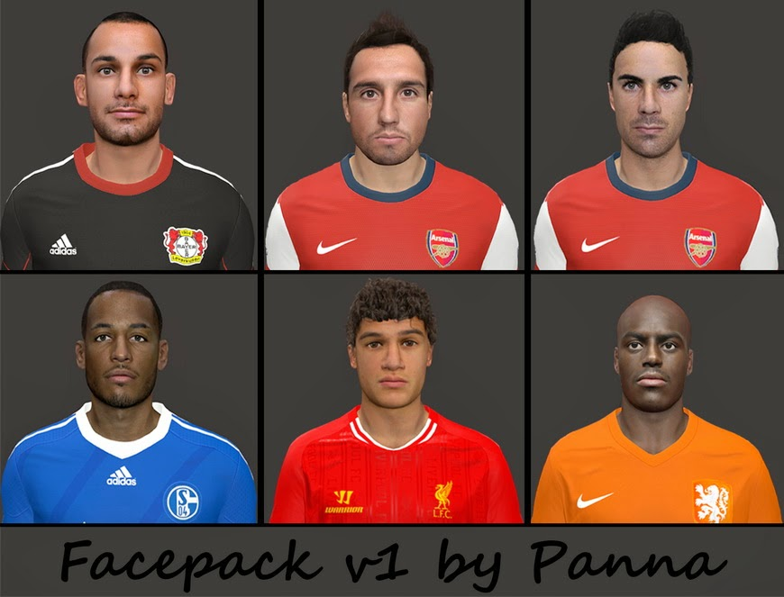 PES 2014 Facepack V1 by Panna