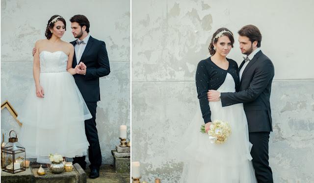 Złote akcenty na ślubie.