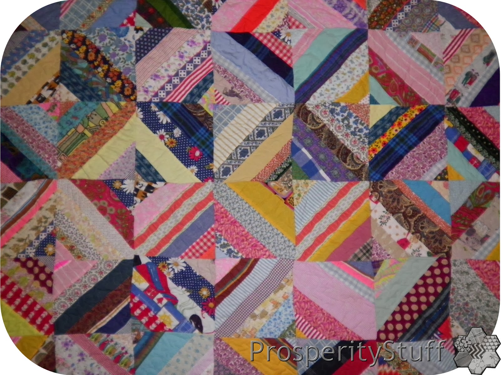 Foundation Pieced Vintage Scrap Quilt