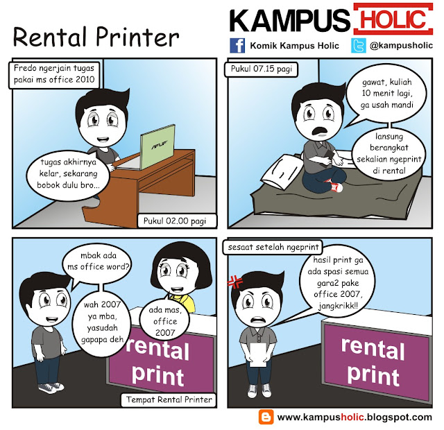 #143 komik Rental Printer di kos