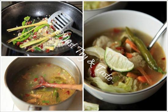 resep bakso ikan homemade dengan kuah asam pedas