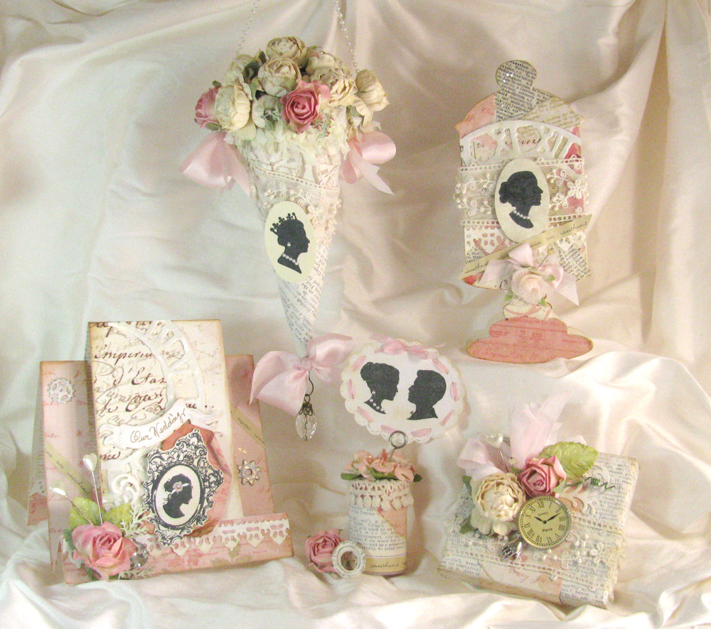 Shabby Chic Clock-Inspired Wedding Set | Unruly PaperArts