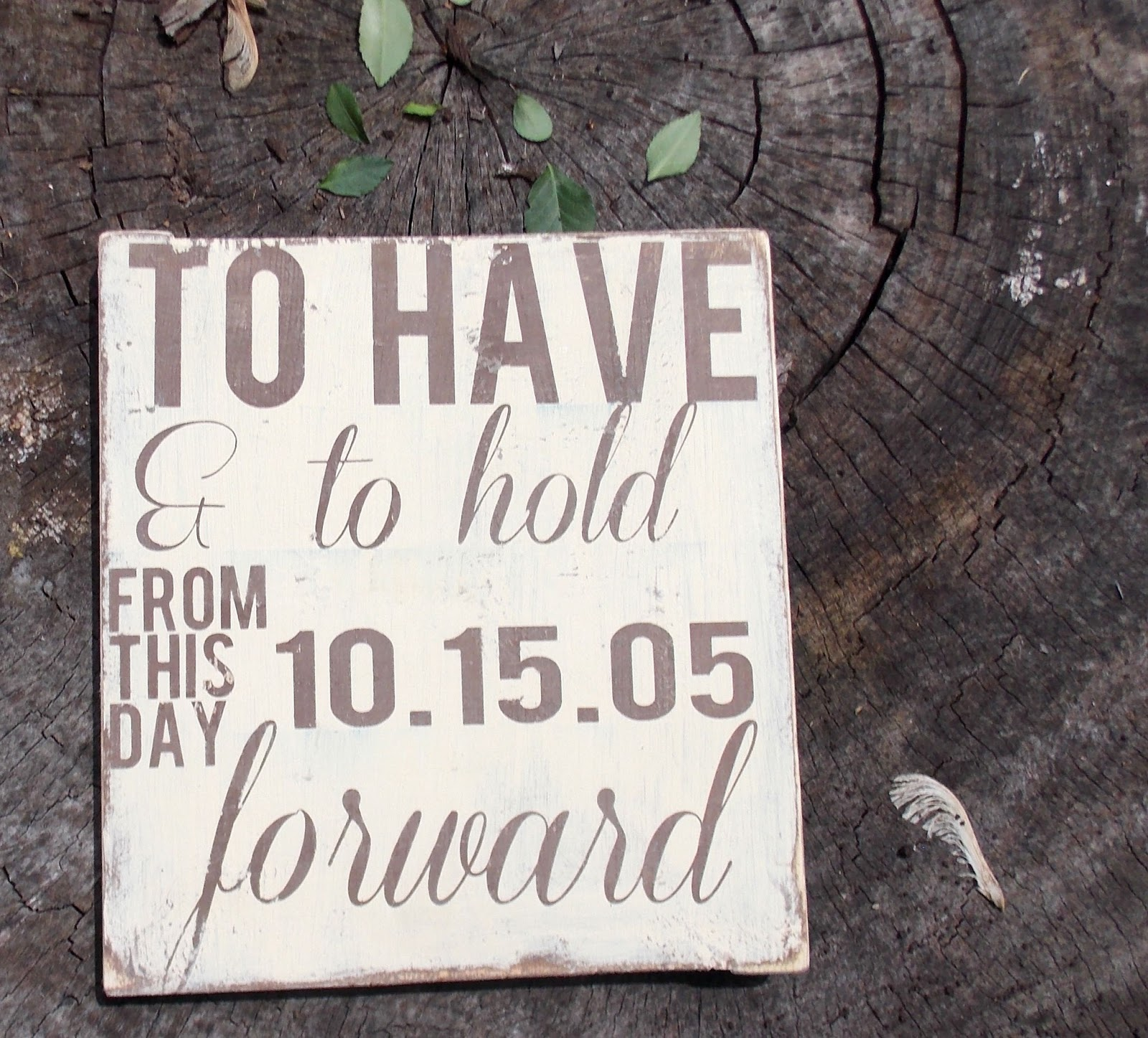 FEATURED ITEM Rustic Wedding Sign