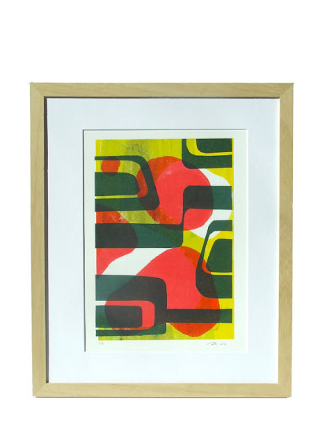Vintage James Bond style print in a retro, colourful, sixties style by Alfamarama