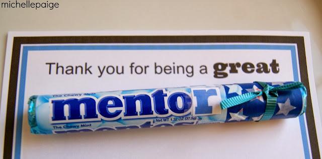 Mentos for a Mentor