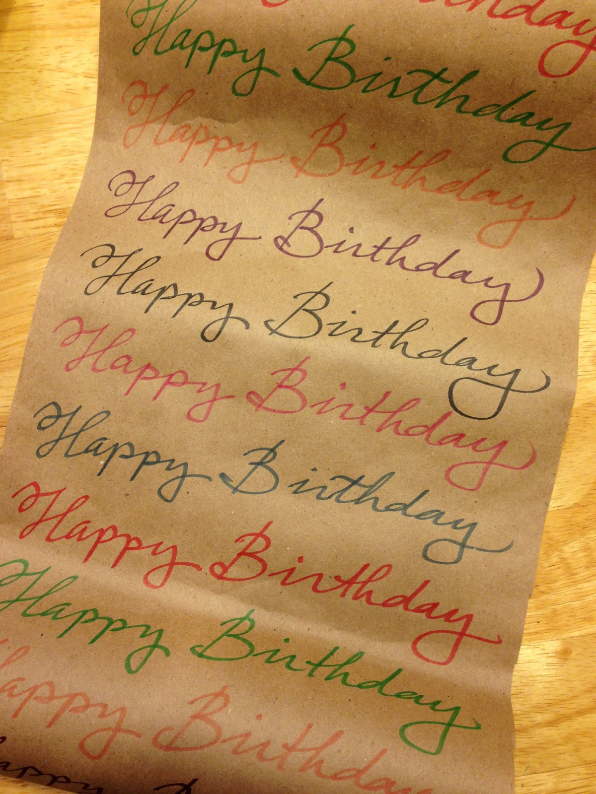 Writing by hand easy calligraphy wrapping paper