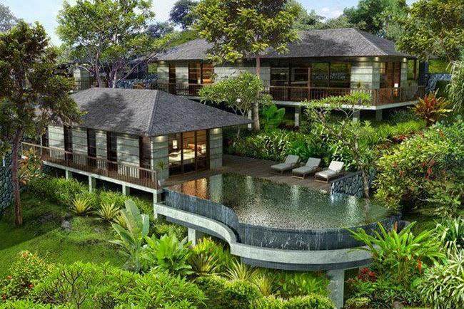 Contoh Desain Taman Villa yang Indah