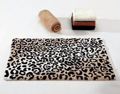 Leopard abyss alfombra de ba o tienda on line de - Alfombras animal print ...