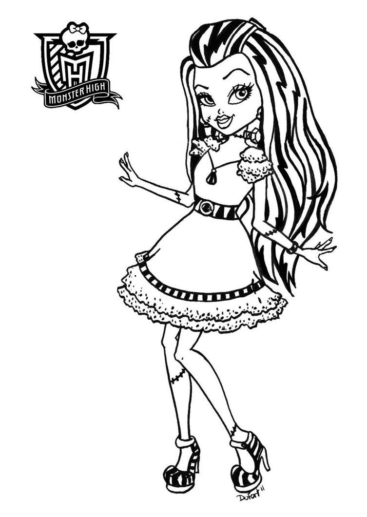 Dibujos y Plantillas para imprimir: Dibujos Monster High ...