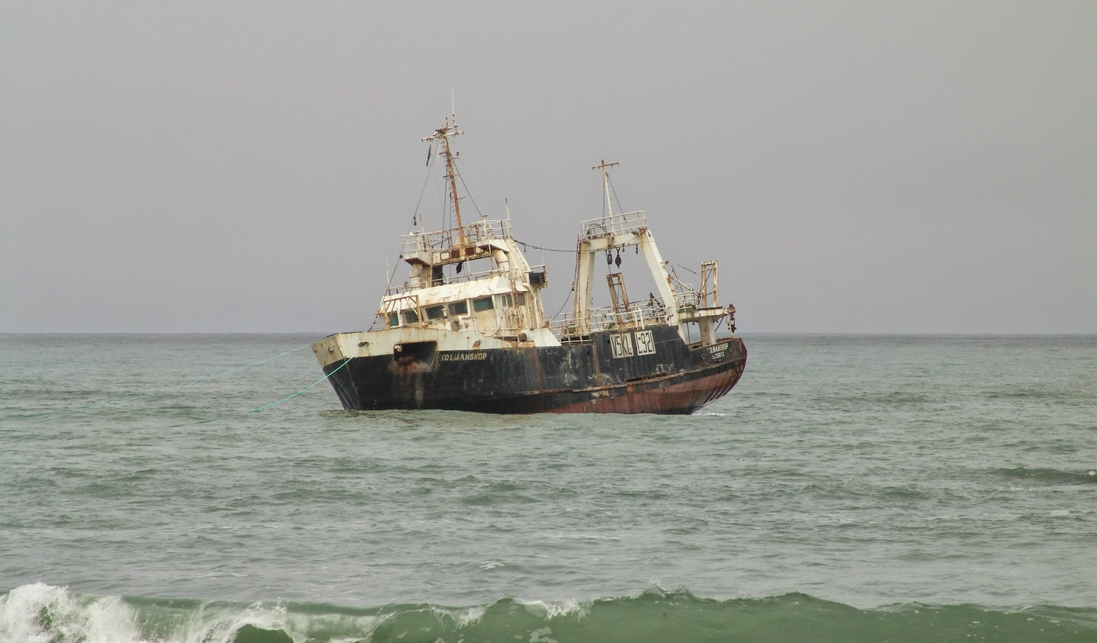 Ship wreck near Swakopmund, Namibia