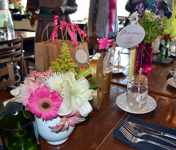 DIY table setting baby shower