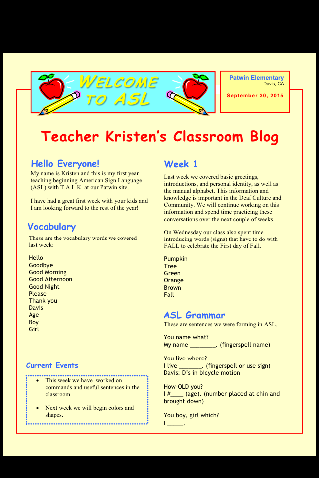 Teach another language to kids talk davis ca september 2015 this is a picture of the newsletter the link above will enlarge the image m4hsunfo