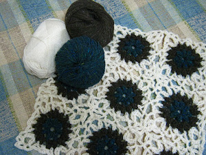 Crochet blanket under way.