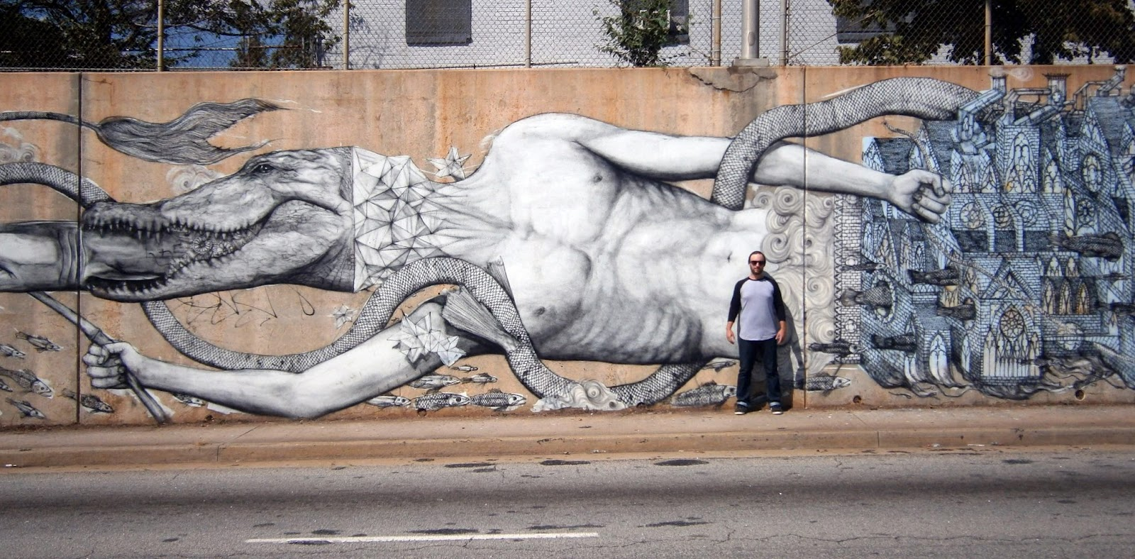 Roti new mural in atlanta usa streetartnews streetartnews for Mural street art