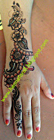 floral henna design by shasi