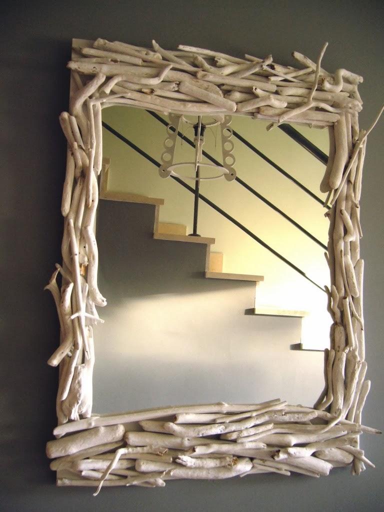 Not for boring decoraci n con troncos - Lamparas para espejos ...