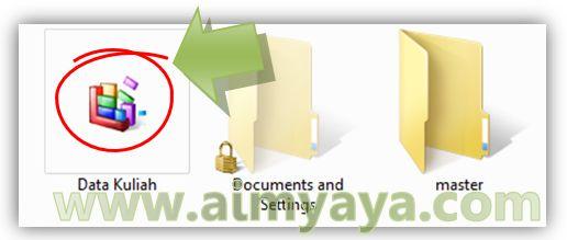 Gambar: Contoh gambar ikon folder yang telah dirubah