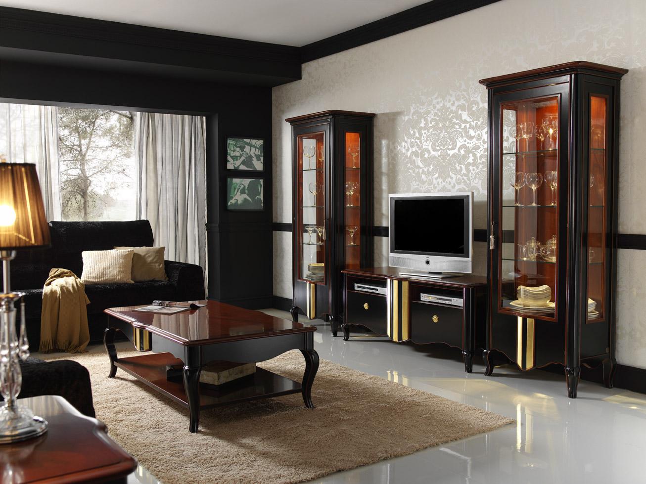 Decoracion mfg toscano el mueble artesano for Salones mezcla clasico moderno