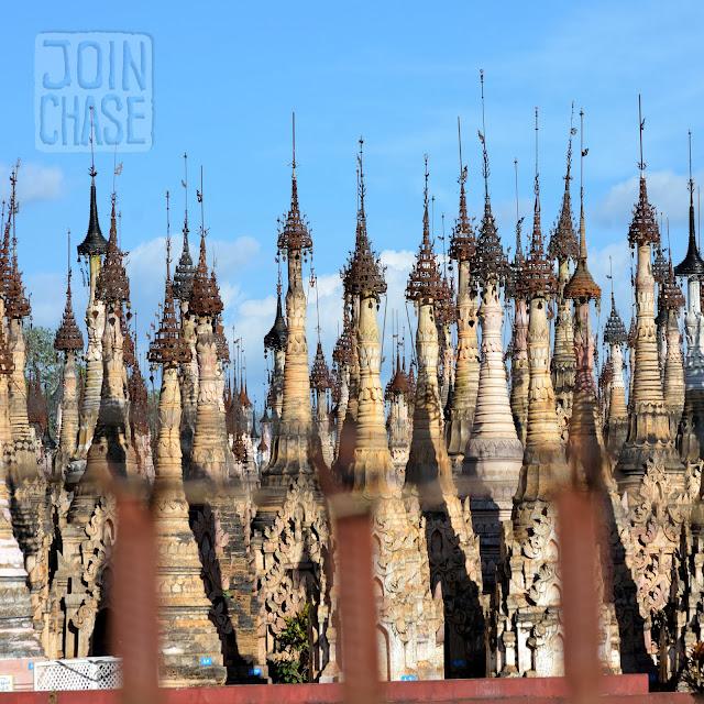 A thousand pagodas near Taunggyi in Shan State, Myanmar.
