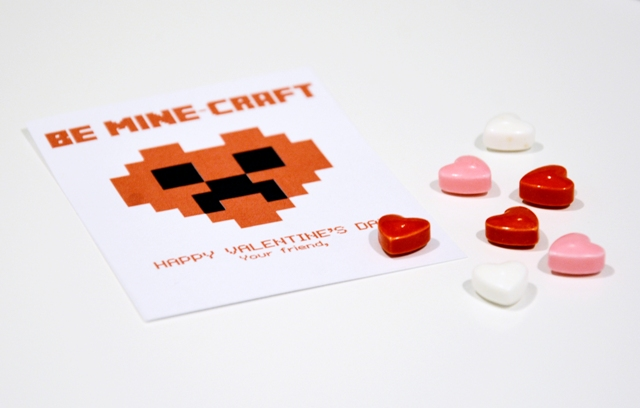 minecraft school valentines printable 4