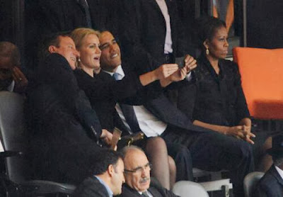 the obama selfie