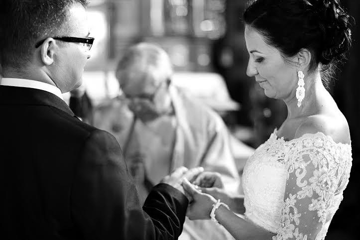 Komplet ślubny z sutaszu