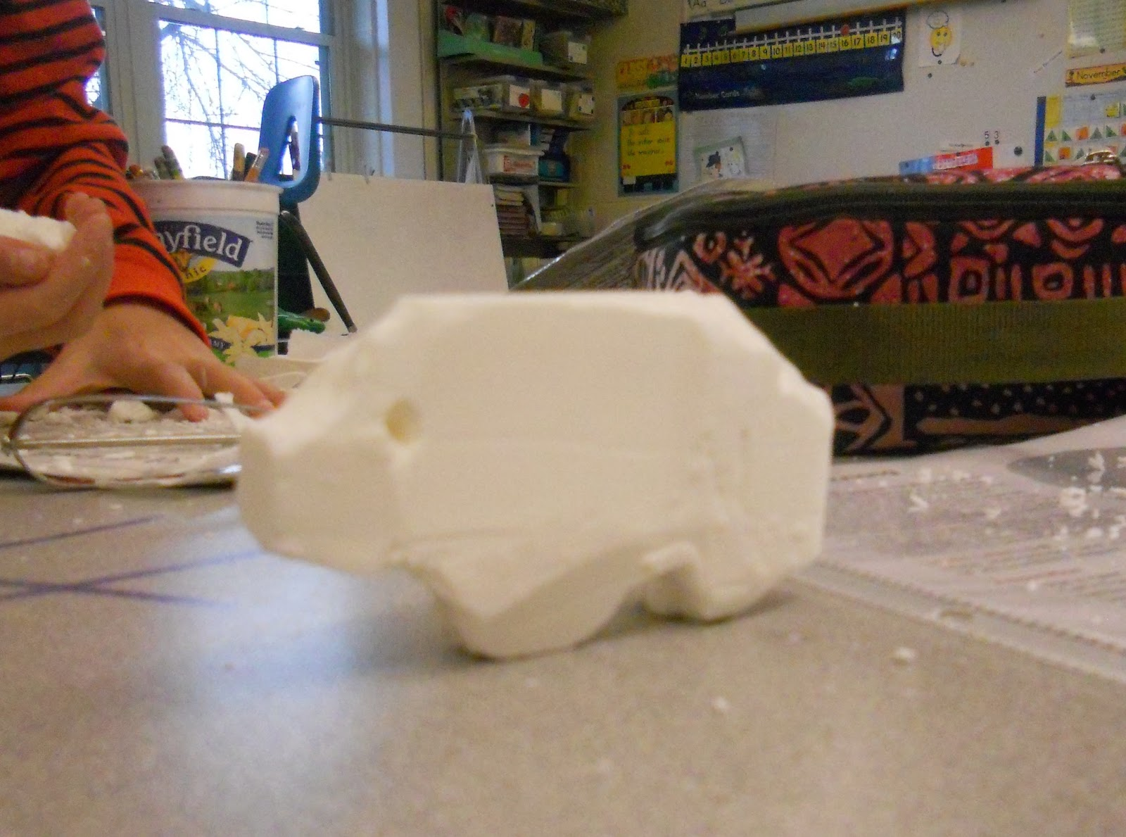 create art with mrs p soap carving and a collaborative totem pole