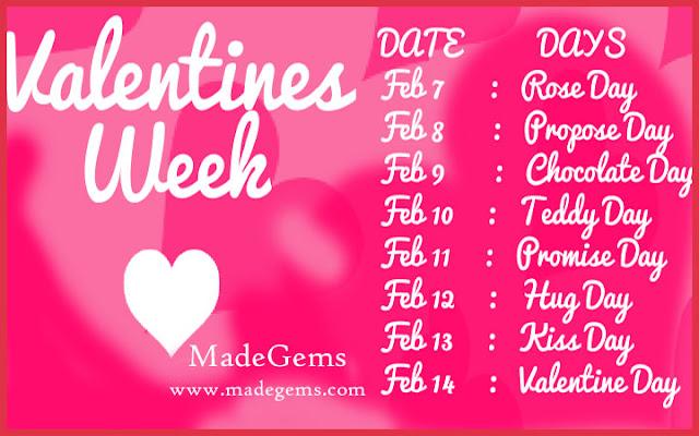 Valentine Week List - Complete Date Sheet | MadeGems