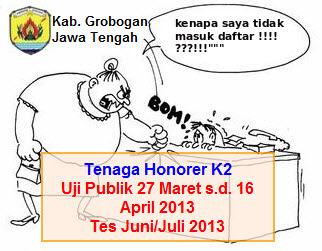Uji Publik Tenaga Honorer Kategori II Kab. Grobogan | Hanya Sekedar .