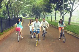 area olah raga sepeda di Bintaro Jaya perumahan jakarta selatan