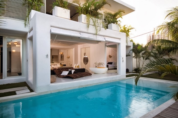 World of architecture exotic contemporary style house in for Pool design bali