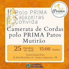 CAMERATA DE CORDAS-POLO PRIMA PATOS MUTIRÃO. DIA 25/10, ÀS 15H, TEATRO ÍRACLES PIRES. IMPERDÍVEL!