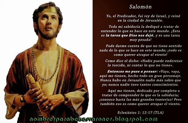 SIGNIFICADO DEL NOMBRE SALOMÓN - NOMBRES BÍBLICOS
