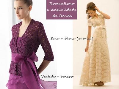 Vestidos românticos.