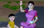Nila Nila Odi Vaa Tamil Rhymes for children with lyrics-3D Animation youtube video