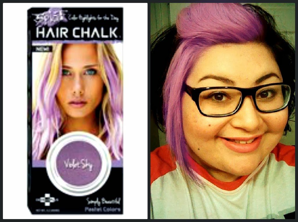 Aaliyahs Blog Splat Hair Chalk Review Violet Sky