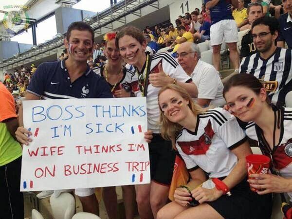 أغبى مشجع في منديال البرازيل