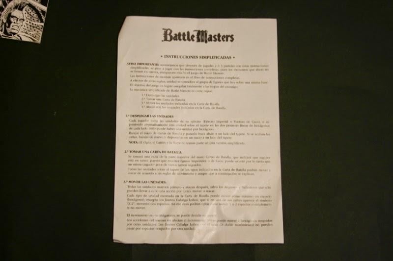 Instrucciones simplificadas de Battle Master