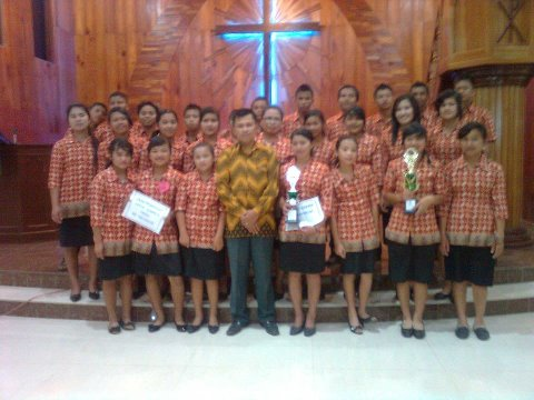 Pelaksanaan Pesparawi Tingkat Kec.Pangaribuan IPPMP-MS 2012.