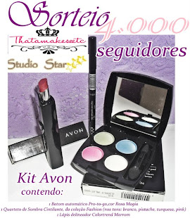 Participem do sorteio de um kit de makes Avon