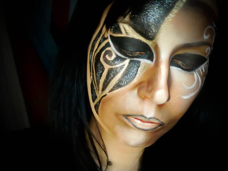 maquillage artistique carnaval de venise. Black Bedroom Furniture Sets. Home Design Ideas