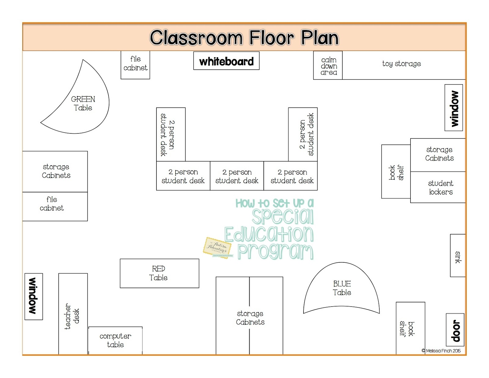 Classroom Design For Autism ~ Quot how to set up a special education program floor plans