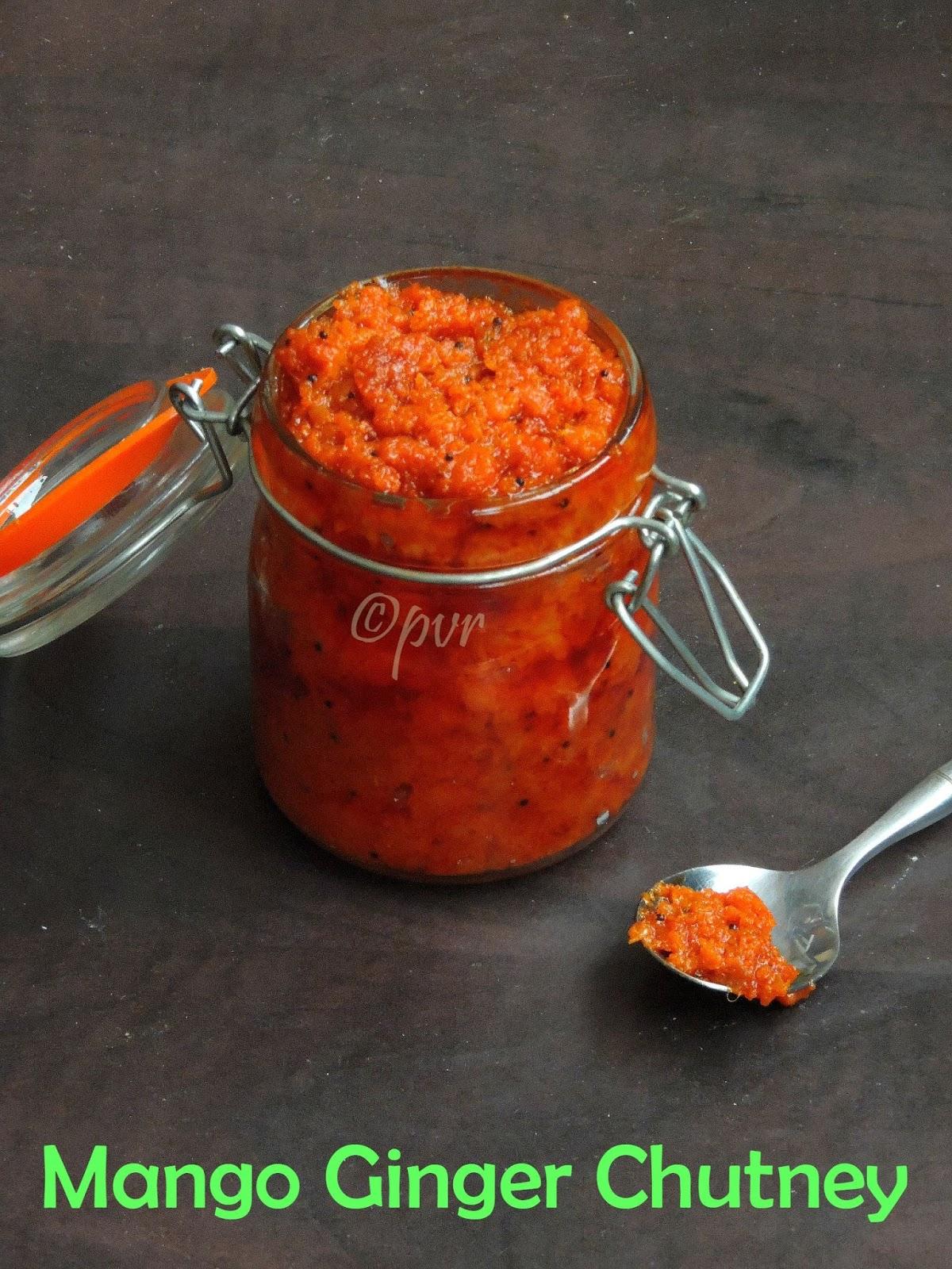 Mango ginger chutney, Aamba Haldi Chutney