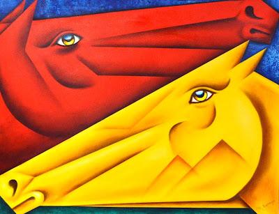 cuadros-caballos-abstractos-oleo