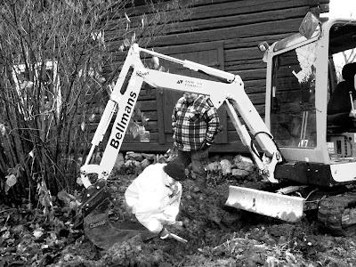 grävskopa marksänkning